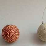 Jute X-Mas Deco Ball Red&Natural CDB-01,CDB-02, Price- Red-1.35, Narl-1.25